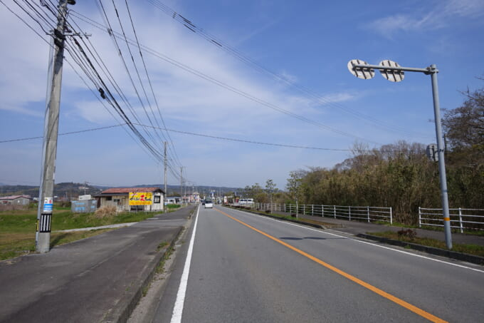 大分の空むさし(旧:里の駅むさし)の道路