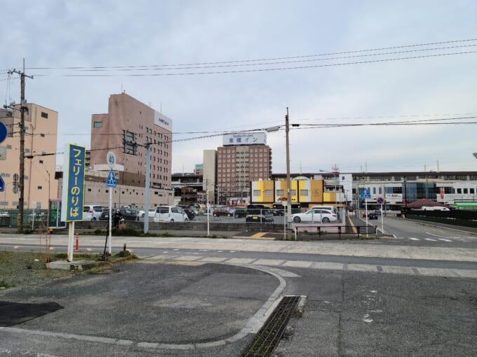 徳山港から見える徳山駅