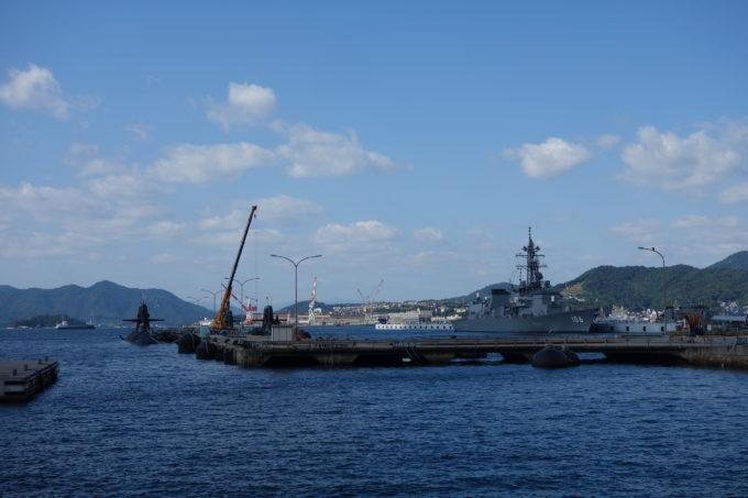 呉港アレイからすこじま 海上自衛隊の艦船