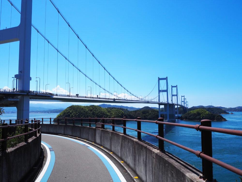 しまなみ海道 来島海峡大橋 大島側の自転車道