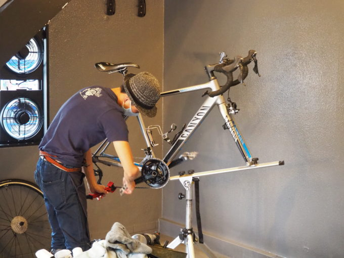 ロードバイク洗車専門店 ラバッジョの洗車 チェーン磨き