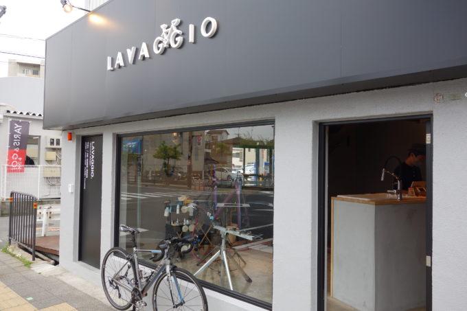 ロードバイク洗車専門店 ラバッジョの入口