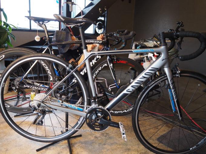 ロードバイク洗車専門店 ラバッジョの洗車 洗車後の綺麗な自転車