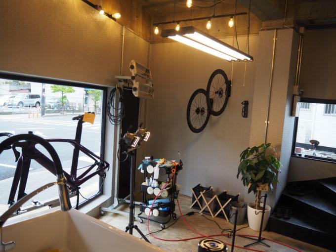ロードバイク洗車専門店 ラバッジョの室内