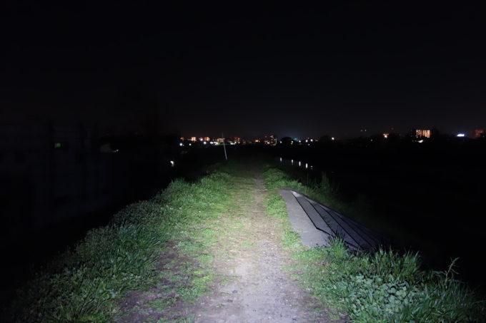 400ルーメンライトの明るさイメージ
