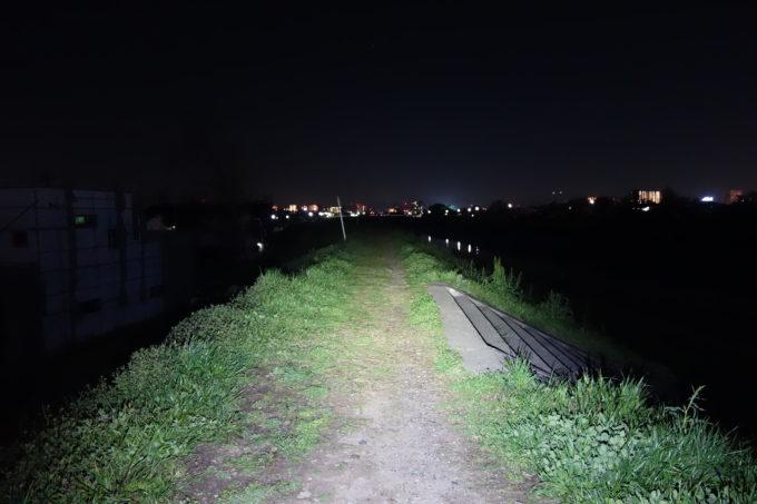 800ルーメンライトの明るさイメージ