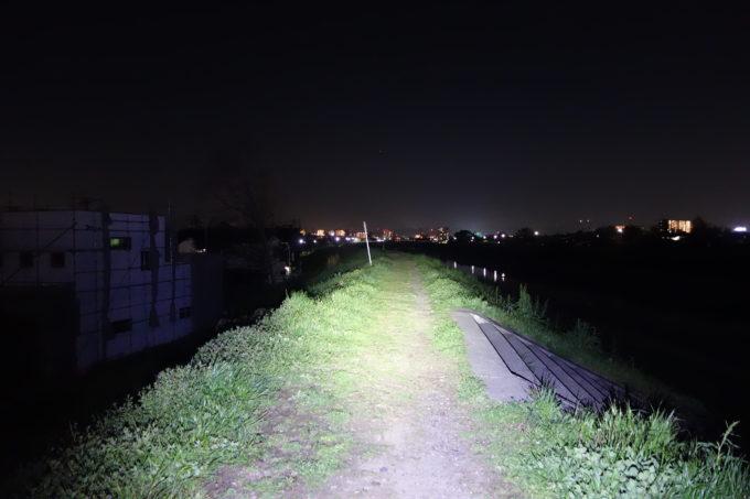 1000ルーメンライトの明るさイメージ