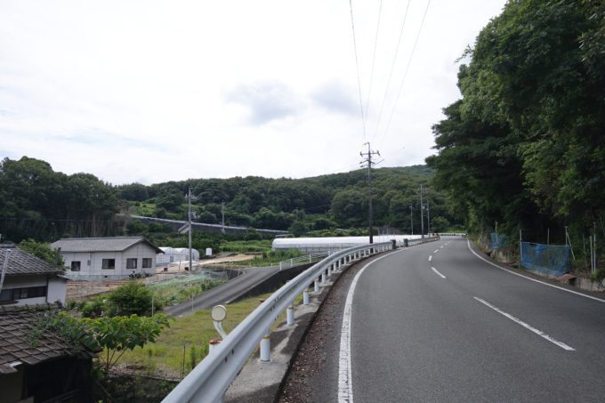 小豆島一周マメイチ 長い坂が見える景色