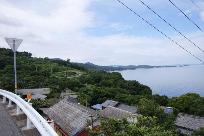 小豆島一周マメイチ 坂の上からの景色