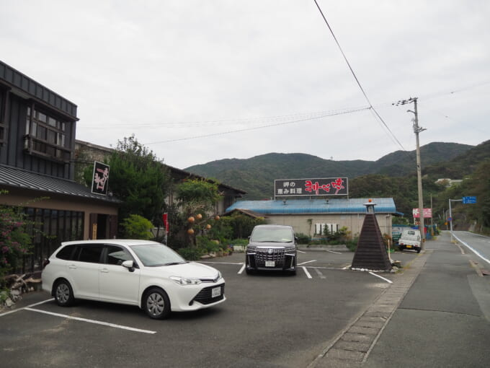 佐田岬半島三崎港の海鮮レストラン まりーな亭店外