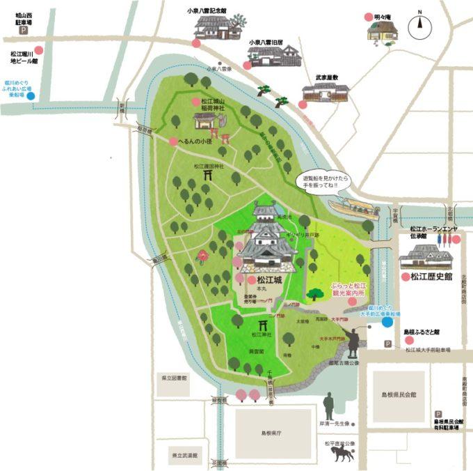 松江城周辺マップ