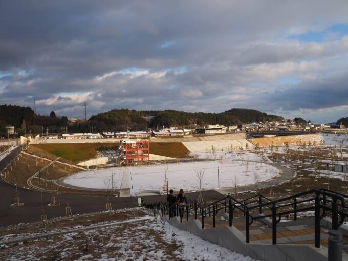 南三陸町震災復興祈念公園 祈りの丘からの景色