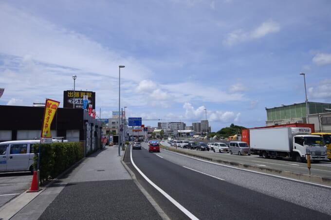 沖縄の豊見城道路