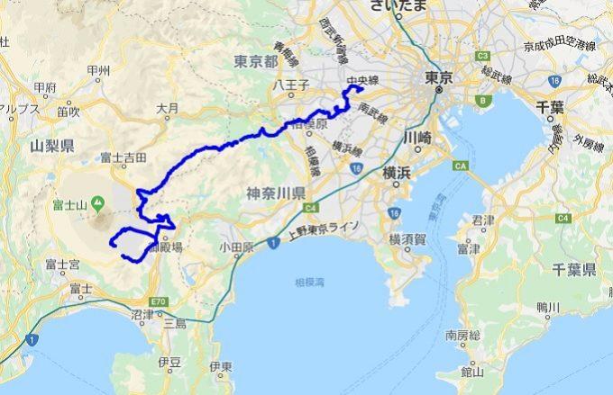 2020東京オリンピック自転車ロードレース テストライドルート