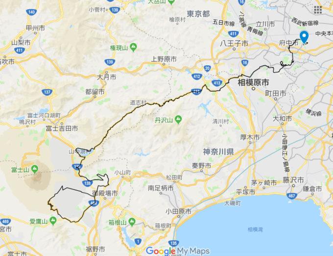 2020東京オリンピックロードレースコース 武蔵野の森公園の位置