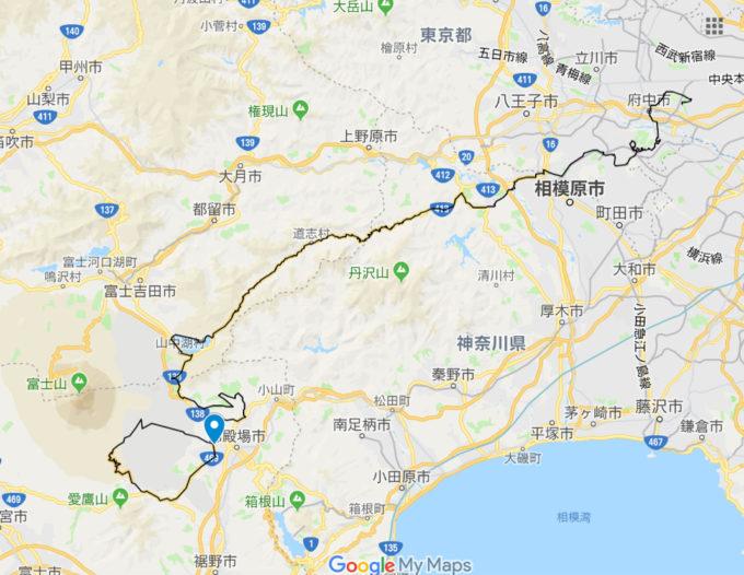 2020東京オリンピックロードレースコース 玉穂支所入口の位置