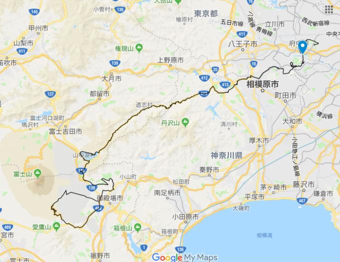 2020東京オリンピックロードレースコース 是政橋の位置