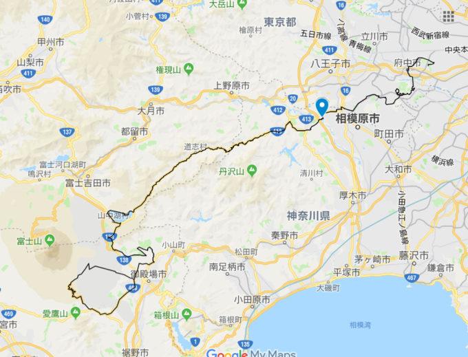 2020東京オリンピックロードレースコース 小倉橋の位置