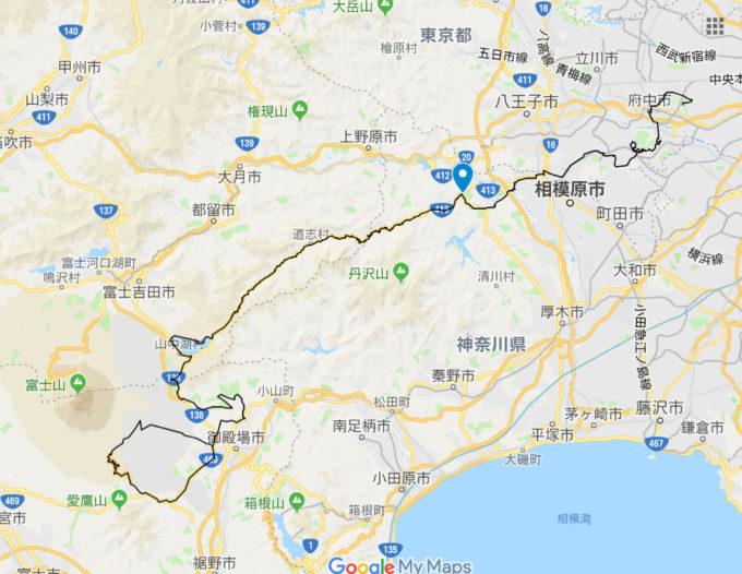 2020東京オリンピックロードレースコース 青山交差点の位置