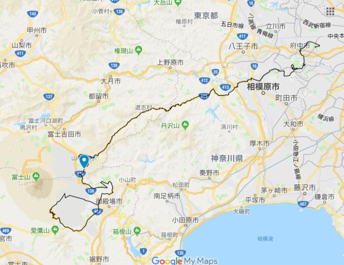 山中湖 地図