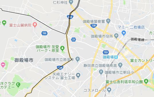 御殿場駅の地図