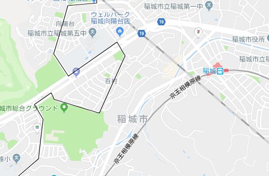 稲城駅の地図