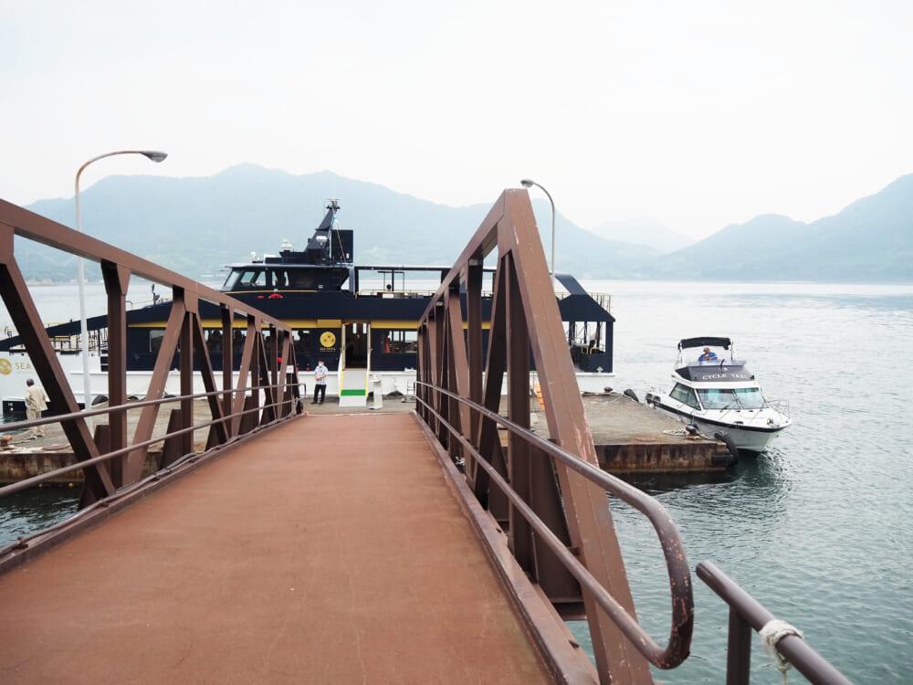 大久野島に寄港しているシースピカ