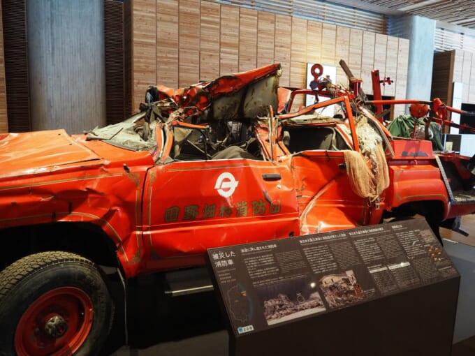 東日本大震災津波伝承館(いわて津波メモリアル)の津波被災の展示