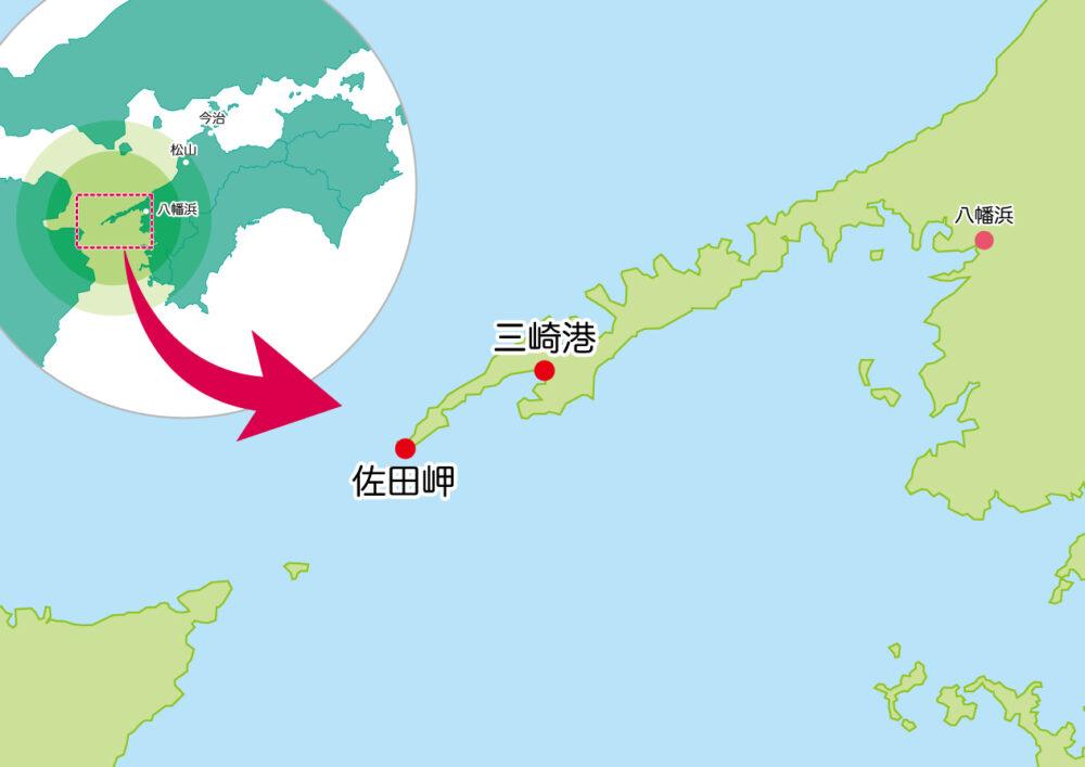 佐田岬半島の地図