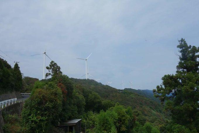 佐田岬半島 風力発電の風車