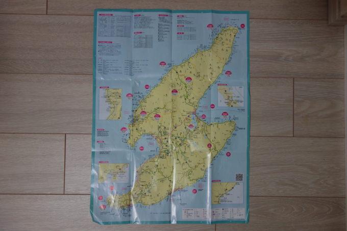 佐渡島観光マップ 全域地図