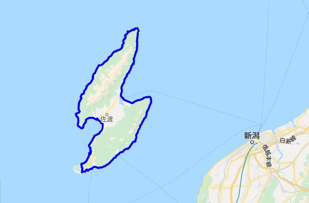 佐渡島一周サイクリング サドイチのルート