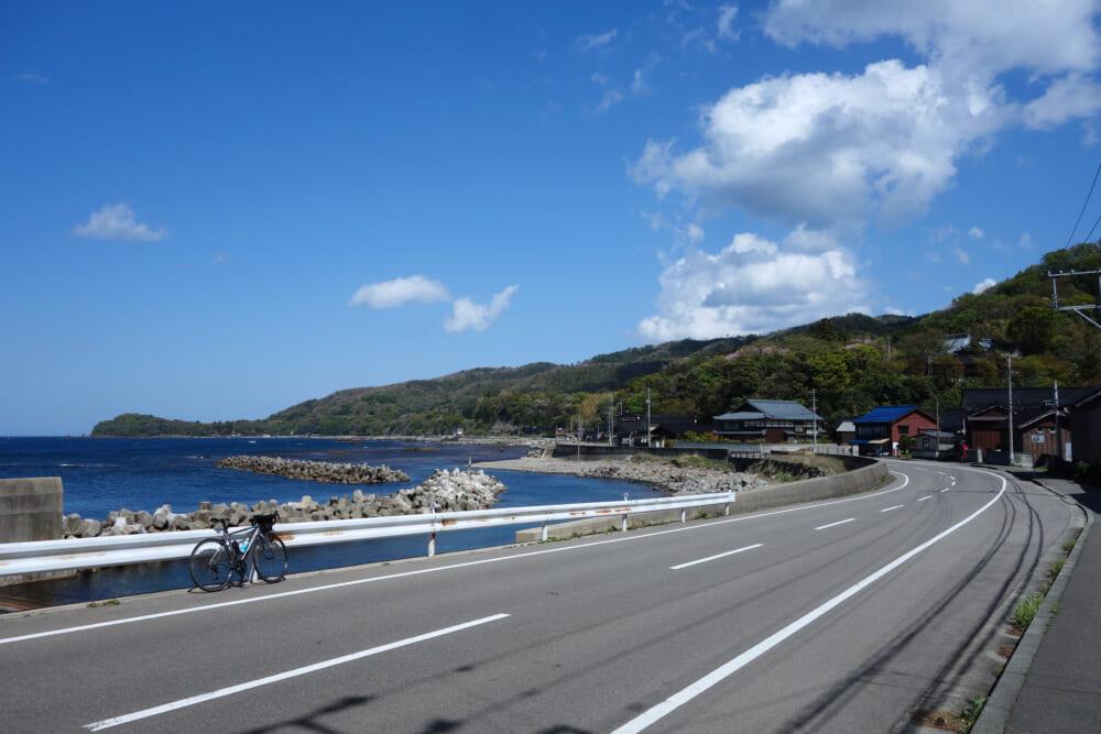 佐渡島サドイチ 東海岸の道路