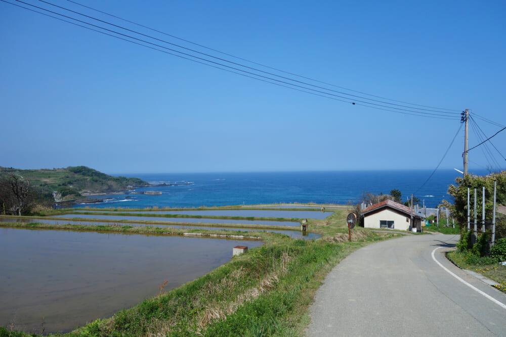 佐渡島一周サドイチ 小木から小木大浦への坂道