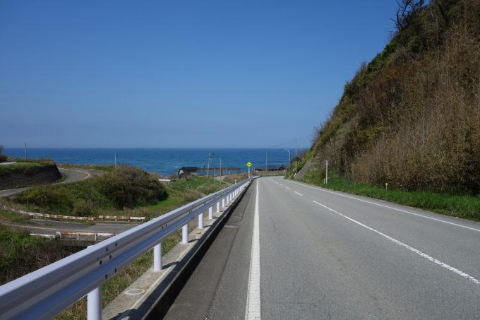 佐渡島一周サドイチ 西岸の道路