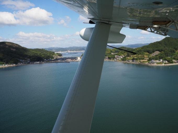 しまなみ海道遊覧飛行 上昇中の飛行機