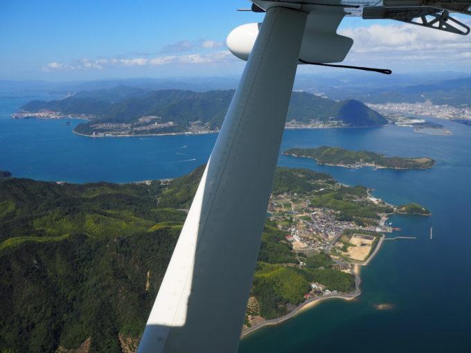 せとうちシープレーン しまなみ海道遊覧飛行 因島上空