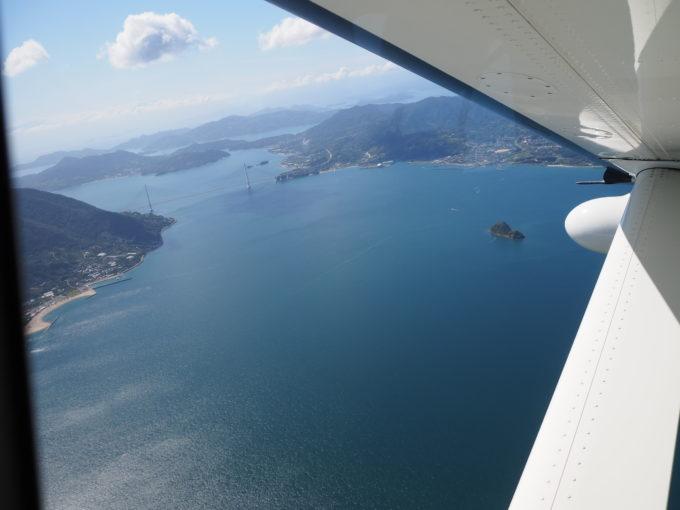 せとうちシープレーン しまなみ海道遊覧飛行 多々羅大橋