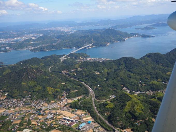せとうちシープレーン しまなみ海道遊覧飛行 因島から因島大橋
