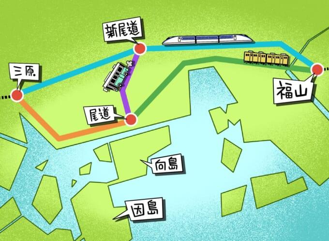 しまなみ海道へのアクセスマップ