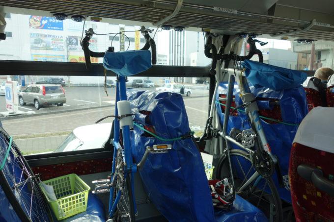 しまなみ海道の自転車積載可能バス しまなみサイクルエクスプレス バス車内の自転車積載方法