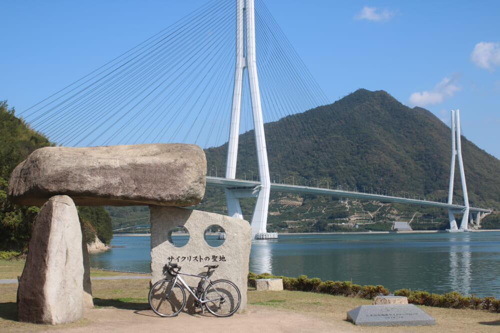 しまなみ海道大三島 サイクリストの聖地碑
