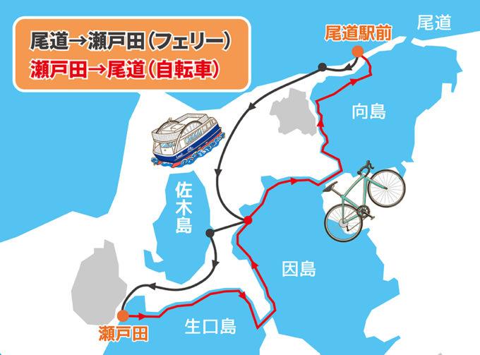 しまなみ海道半日コース 瀬戸田→尾道サイクリング