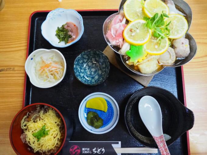しまなみ海道生口島 ちどりの蛸めしとレモン鍋