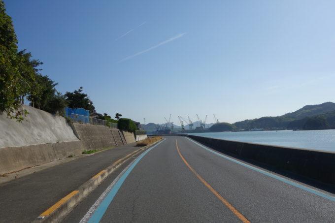 しまなみ海道生口島 南側の海沿いの道