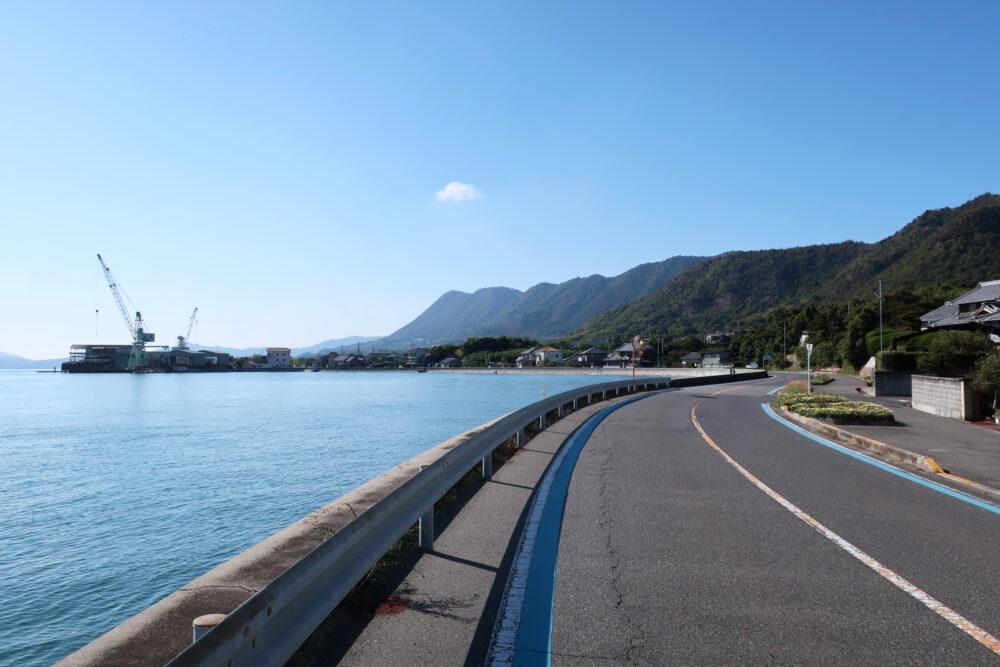 しまなみ海道サイクリング 生口島のサイクリングロード