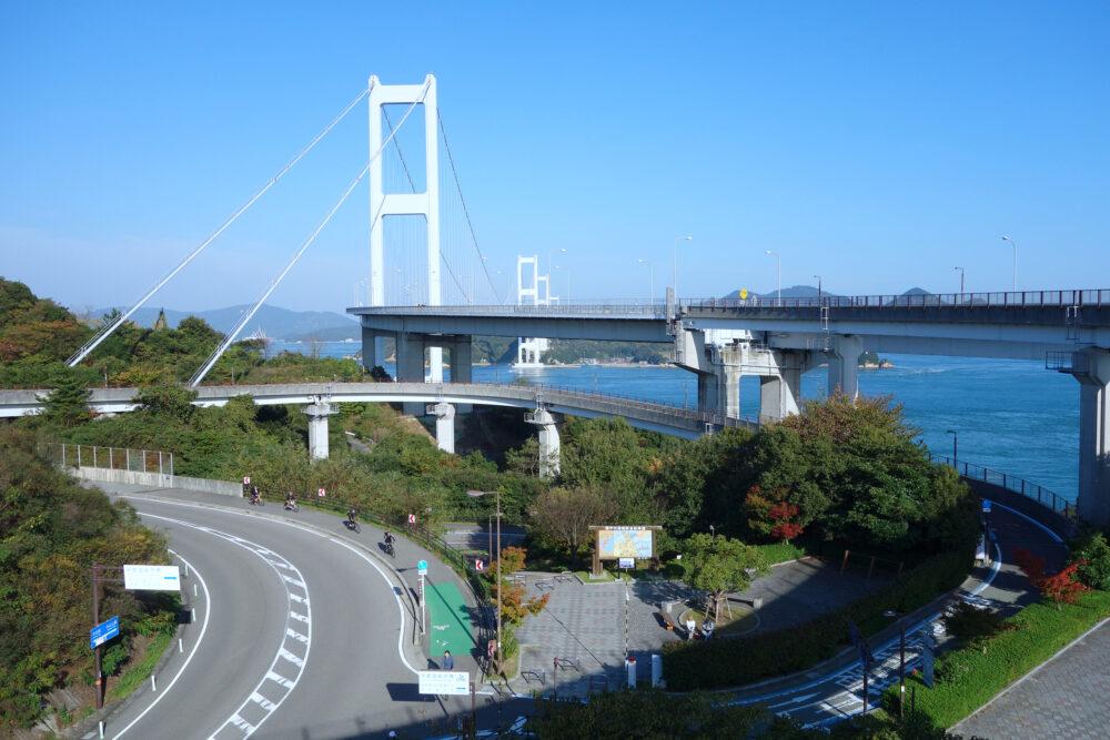 しまなみ海道 来島海峡大橋へのループ