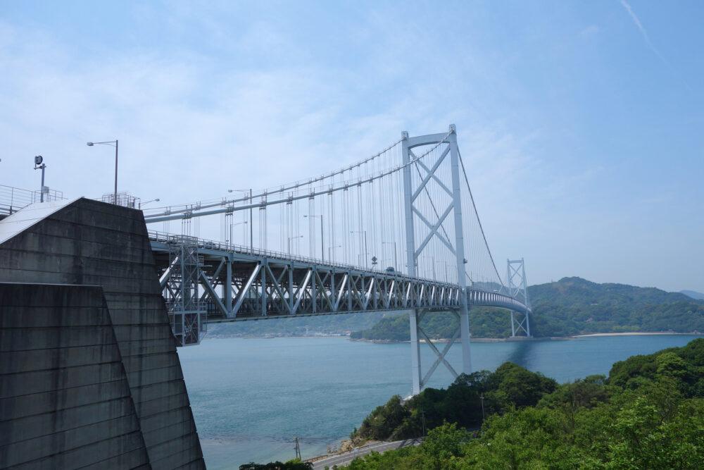 しまなみ海道 向島と因島を結ぶ因島大橋の内部