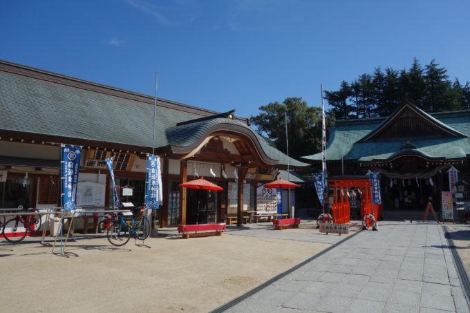 しまなみ海道因島 「自転車神社」大山神社の境内