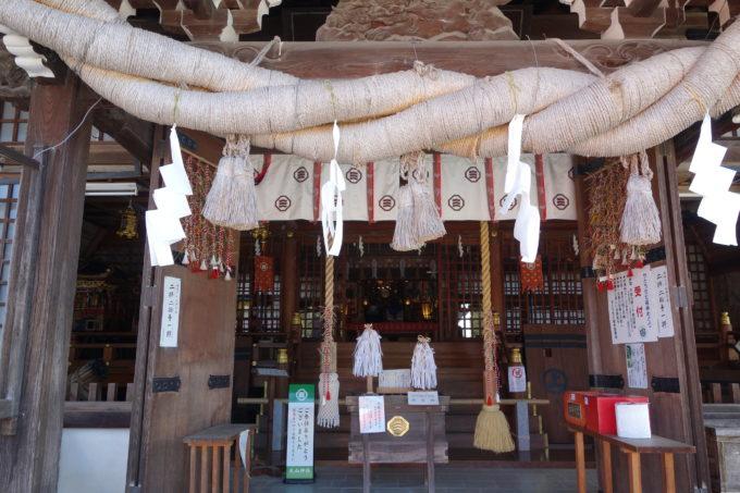 しまなみ海道因島 「自転車神社」大山神社の本殿拡大